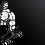 Illustration: bodybuilder with dumbbell Stock Photo