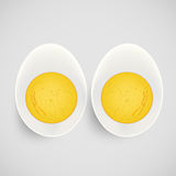 Boiled egg with yolk Royalty Free Stock Photos