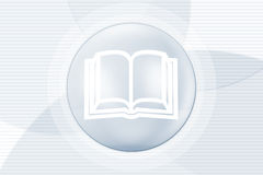 Illustration of book in circle Stock Photo