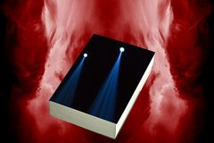 Book cover illustration. Illustration of the book cover with stage lights Royalty Free Stock Photo