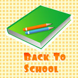Illustration of book and pencils Royalty Free Stock Photography