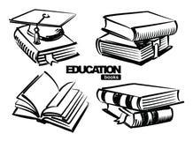 Illustration of books Stock Photography