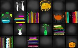 Illustration of bookshelf Royalty Free Stock Photography
