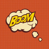 Illustration of a Boom in comic stile, on cloud Royalty Free Stock Image