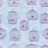 Lonely Bird Seamless Pattern_eps Stock Image