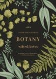 Illustration botanique avec des feuilles Images stock