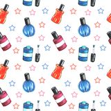 Illustration of a pattern of a bottle of nail Polish vector illustration