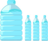 Illustration bottle water. On white background Stock Photography