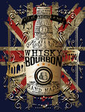 Illustration of a bottle of Whisky Stock Images