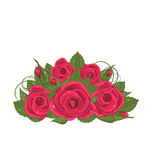 Bouquet red roses isolated on white background Stock Photo