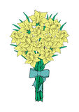 Bouquet of yellow narcissi Stock Photos
