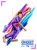 Bowler bowling in cricket championship sports. Illustration of Bowler bowling in cricket championship sports stock illustration