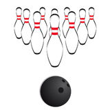 Bowling vector Stock Photography