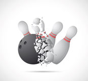Bowling game cartoon Royalty Free Stock Images