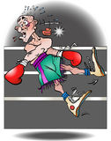 A illustration of a boxer knocked out stock illustration