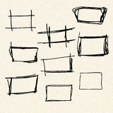 Illustration of boxes on a sheet of lined paper Stock Photography