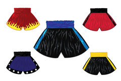 Illustration of boxing shorts set Royalty Free Stock Photo