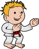 Illustration boy karate Stock Photo