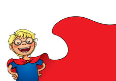 Little superman. Illustration of boy playing superman Royalty Free Stock Photos