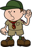 Illustration of boy scout Stock Photos
