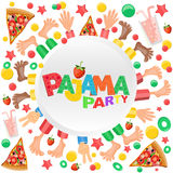 Illustration of boys  having pajama slumber party. Royalty Free Stock Photos