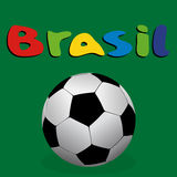 Illustration Brésil 2014 de vecteur Photographie stock libre de droits