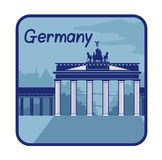 Illustration with Brandenburg Gate in Berlin Stock Image