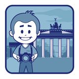 Illustration with Brandenburg Gate in Berlin Royalty Free Stock Photos
