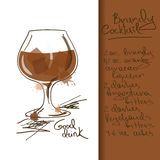 Illustration with Brandy Cocktail Stock Images