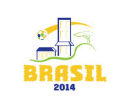 Illustration brasil 2014 art. Vector illustration brasil 2014 ball day Royalty Free Stock Image