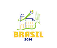 Illustration brasil 2014 art. Vector illustration brasil 2014 ball day Stock Photo
