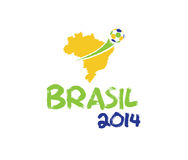 Illustration Brasilien 2014 Royaltyfria Bilder