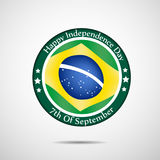 Illustration of Brazil Independence Day Background. Illustration of elements of Brazil Independence Day Background Stock Photos