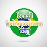 Illustration of Brazil Independence Day Background. Illustration of elements of Brazil Independence Day Background Royalty Free Stock Photo