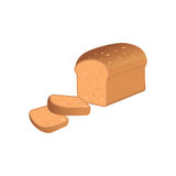 Illustration of a bread slices on a white background Royalty Free Stock Images