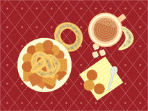 Illustration of a breakfast Stock Photography
