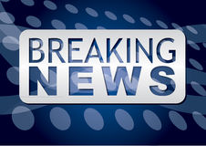 Illustration of a breaking news TV screen Royalty Free Stock Image