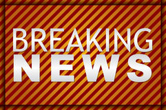 Illustration of a breaking news TV screen Royalty Free Stock Photo
