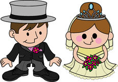 Illustration bride and groom Royalty Free Stock Image