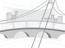 Illustration of the bridge Royalty Free Stock Photo