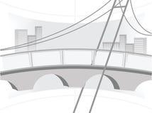 Illustration of the bridge Royalty Free Stock Photo