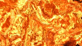 Illustration of a bright fiery flame. Close-up Stock Images