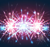 Illustration with bright holiday fireworks. Vector element for your creativity Stock Photography