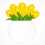 Illustration of bright tulips. Stock Photo
