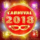 Illustration brillamment colorée pour le carnaval 2018 Illustration de Vecteur