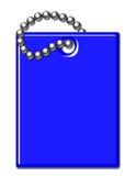 Illustration brillante bleue d'étiquette de bagage illustration de vecteur