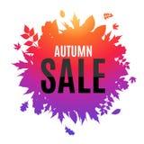 Illustration brillante d'Autumn Leaves Sale Background Vector Photos stock