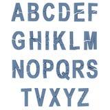 Illustration of broken alphabet. Isolated,white background Royalty Free Stock Images