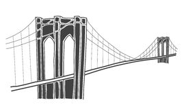 Illustration of brooklyn bridge, new york Royalty Free Stock Photography