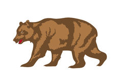 Illustration of brown bear Royalty Free Stock Photography